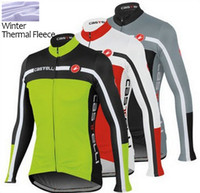 Wholesale Cycling Shirts Men - New Winter thermal fleece cycling clothing maillot Long sleeve jersey only bib pant,trousers,cycling Clothes cycling jersey outdoor bike