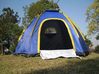 Wholesale Hexagonal Waterproof Portable Camping Tent for Persons UV resistant for Outdoor Travel Sea Beach Blue H11852