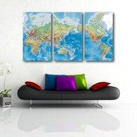 Cheap world map Best decorative painting