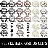 Wholesale 2 CM CM CM Teeth Wig Clips Snap Clips Hair extension Clip Large Clips Color Black Blonde Brown Sliver pad for hair