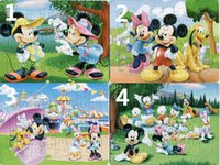 Wholesale 40pcs pack Mickey Mouse Puzzles Style For Choice Mickey Mouse Characters Pattern Children Education Games Toys For Kids Gift H0342