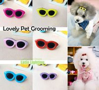 dog grooming bows - Hot Sale Dog Hair Bows Pet Dog Grooming Bows Pet Hair Clips Pet Hairpin Teddy Sun Glasses Hair Accessory LJJD303