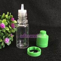 Wholesale 3000pcs ml Plastic Squeezed PET Proof Dropper Bottle Childproof Tamper Evident Dripper Empty Bottles E Liquid Oil Bottle