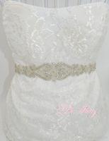 belts for wedding dresses - New Wedding Accessories Belt Fashion Handmade Crystal Rhinestone Bead Ribbon Wedding Belt Bridal Sash For Evening Dress Party Dress PR107