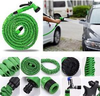Wholesale FT Hose with gun WATER garden tools Pipe Green Water valve set car wash pressure water sprayer gun
