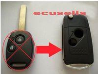 Wholesale car BUTTON FLIP KEY CASE UPGRADE FOR HONDA ACCORD CIVIC JAZZ HRV CRV REMOTE KEY