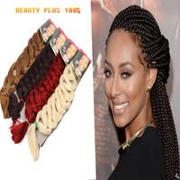 Wholesale 5 Jumbo braids hair Synthetic Braid Hair Inch Kanekalon X pression Braiding Hair g Box Braids Hair free Shippping