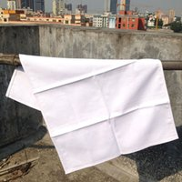 Wholesale plain white color pure cotton tea towel blank tea towel cm for customized print any color available