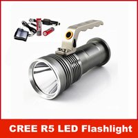 Wholesale 800LM CREE XM L R5 LED Portable Flashlight Light Lamp Torch modes With mAh Battery and Charger