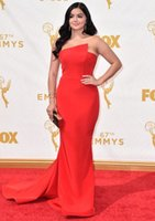 ariel black - 67th Emmy Award Ariel Winter Red Carpet Gowns New Sheath Celebrity Dresses with Chapel Train Evening Formal Gown Kissbridal