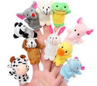 Wholesale 2015 Retail Baby Plush Toy Finger Puppets Talking Props Animal Group Set