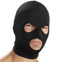 Wholesale Spandex Hood Mask with Mouth and Eye Opening Fetish Bondage