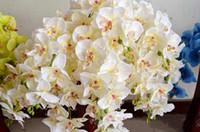 Display Flower autumn wedding bouquets - 10pcs cm Long Autumn Phalaenopsis Butterfly Moth Orchid Artificial Flowers Wedding Home Decoration Flower Bouquet Colors