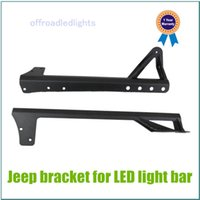 Wholesale 288W CREE LED Work Light Bar inch Mounting Bracket For Jeep Wrangler W Driving Light Spotlight A Pillar Bracket Harness Kit