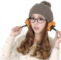 beret pattern knit - New Casual Bead Pearl Knitted Beret Hat Women Gift Pumpkin Pattern Winter and Autumn Boina Feminina Cap