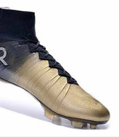 best of best - The best quality of New Launch Soccer Cleats gold CR7 Special Edition Gold studs Ronaldo Soccer Shoes New CR7 gold Soccer Shoes