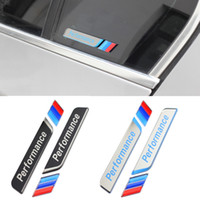 Wholesale 1 Pair Styling M Performance Car Window Decal Stickers M Power C Pillow Emblem Badge for BMW Series X5 X6 E90 F30 F35 E60