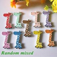 sewing buttons - NEW Wooden Buttons Mixed Holes Cut Animal Giraffe Wood Sewing Buttons Scrapbook x17mm