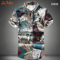 big and tall casual shirts - XL XL XL Plus Size Short Sleeve Men Hawaiian Shirts Big And Tall Summer New Arrival Camisa Social Masculina Imported