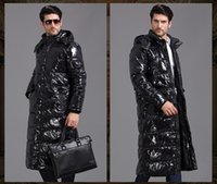 Cheap 2015 Fashion Men's winter coat white duck down Hooded Thick thick over knee long warm down jacket big size S-XXXXL Down Parkas