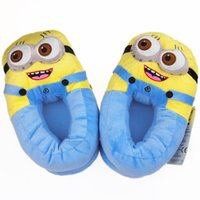 Wholesale Despicable women girl ME Minion D Eyes Jorge home Soft Plush Slipper Cosplay Shoes