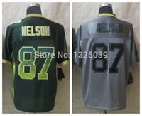 best drifting - Factory Outlet New Jordy Nelson Lights Out Grey Jersey Drift Green Elite Football Jersey Best Quality Embroidery Logo Size M XL