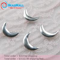 Wholesale 1000pcs mm moon styles sivler nailheads metal studs hotfix nail art metal stud DIY