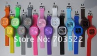 Wholesale DHL Free SS com silicone jelly watch candy watch colors watch g tiggou