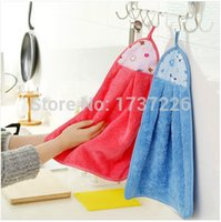 kitchen towels - 47cm x cm E015 thickening plus size super absorbent oil wool kitchen towels wash towel dishclout hand towel