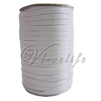 Wholesale One Roll White mm ELASTIC meters long Cord Flat Corded Sewing Braided Roll inch White Black Color order lt no track