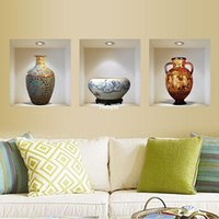 Wholesale wall stickers home decor The new factory wall stickers Z China Wind exquisite vase D stereoscopic wall stickers stickers trip