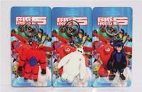 al por mayor la cara de la muñeca de goma-7cm animado Big Hero 6 Baymax Hiro goma suave de doble cara Llaveros PVC figura juguetes colgantes de PVC Baymax muñecas para regalo