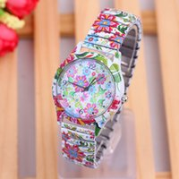 best floral designers - Lowest Price Designer Watch Colorful Floral Printing Best Watches Casual Style Wrist Watches for Girls Christmas Gift w