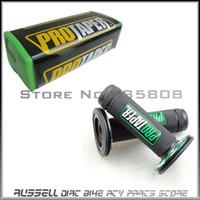 bars dirtbike - Green Pro taper Handle Bar Pad Chest Protector Cross handle grips for mm handlebar MX DIRTBIKE Dirt Pit Bike