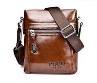 Wholesale 2015 sell famous brand design leather men bag casual business leather men messenger bags vintage fashion mens cross body bag