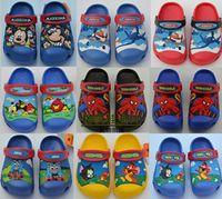 Wholesale new anna elsa dora car spiderman minions hulk D cartoon beach slipper baby sandal kids shoes boy shoes