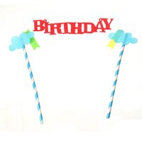 baby shower cake topper - Happy Birthday Cake Topper Set Baby Shower Party Decor Lovely Kids Birthday Party Decorative Supplies