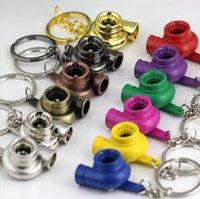 auto parts quality - Top Quality Fashion Turbo Keychain Auto Parts Model Spinning Turbocharger Key Chain Keyring Keyfob Many Colors
