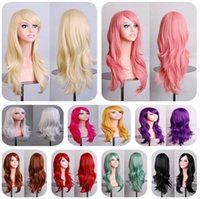 Wholesale beautiful lady Synthetic Wigs Europe and America cm long curly hair Cosplay Stage Cos anime Wig