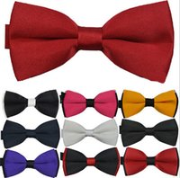 Wholesale 2015 new Brand Fashion high quality men polyester double layer bowtie mixed styles bowtie for party