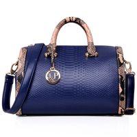 Wholesale 2015 new Fashion PU leather bag ladies Serpentine tote Shoulder bag handbags women famous brands Bag Women bag
