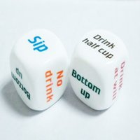 Wholesale Party Drink Decider Dice Games Pub Bar Fun Die Toy Gift KTV Bar Game Drinking Dice cm