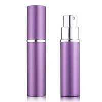 anodized metal - perfume bottle ml Aluminium Anodized Compact Perfume Aftershave Atomiser Atomizer fragrance glass scent bottle Mixed color