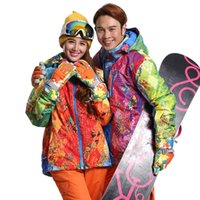 Wholesale Top Quality Lover Snowboard Jacket Women Colorful Snowboard Jacket Waterproof Skiing Clothing Men Ski Jackets Wear Skee Coat