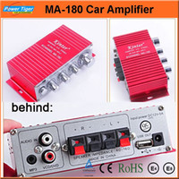 Wholesale MA Car Styling Brand V CH Mini Digital Audio Power Amplifier Stereo AMP Car Audio Amplifier For HiFi MP3 Red