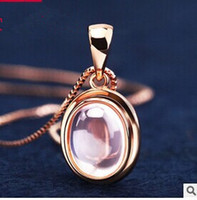 Celtic angel stones - Crazy sale Top quanlity A A A pink hibiscus stone k rose gold pendant chain