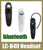 Universal car hands free microphone - LC B40 lcb40 Wireless Bluetooth4 Stereo Hands Free Music headphone In Ear Earphone car Microphone bluetooth headset VS hbs EAR028