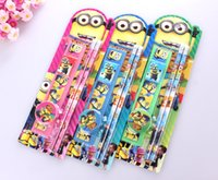 office stationery set - 4 in1 Minions pencil Bags Despicable Me Gifts Stationery Set pencil combination Creative office school supplies