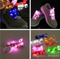 Wholesale new led belt LED Flashing shoelace light up shoe Flashing Disco Party Fun Glow Laces Shoes led bandlet led arm bandlet pair