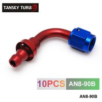 Wholesale TANSKY AN AN8 AN Degree SWIVEL OIL FUEL GAS LINE HOSE END PUSH ON MALE FITTING AN8 B